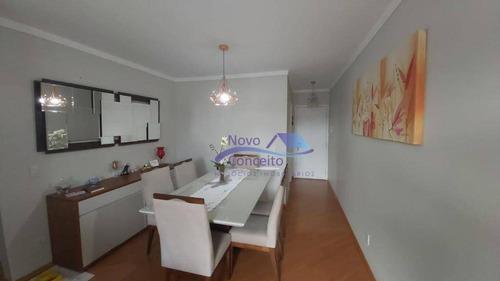 Apartamento Com 3 Dormitórios À Venda, 64 M² Por R$ 318.000 - Vila Antonieta - São Paulo/sp - Ap0177