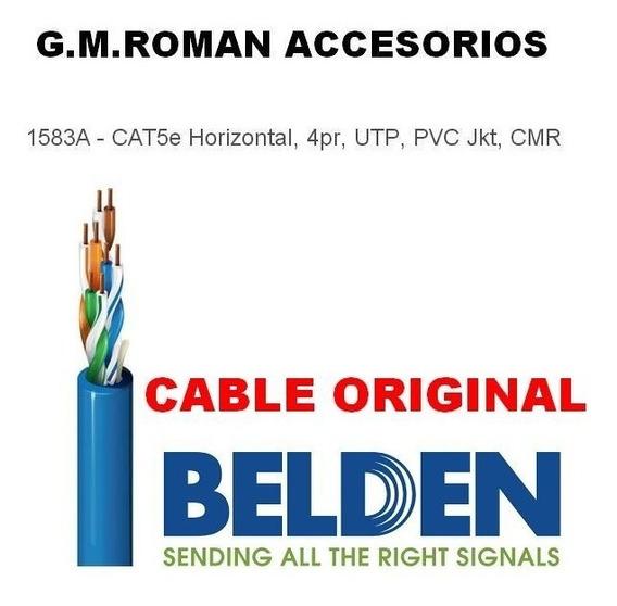 Cable Belden Azul Utp Cat5e 1583a 4 Pares 305 Metros