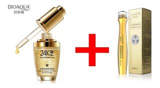 Kit Bioaqua 24k Gold Colageno Acido Hialuroinico 2pz Full