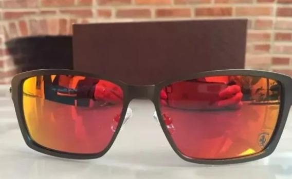 Oculos De Sol Tincan Ferrari Logo Cinza Polarizado Promoção