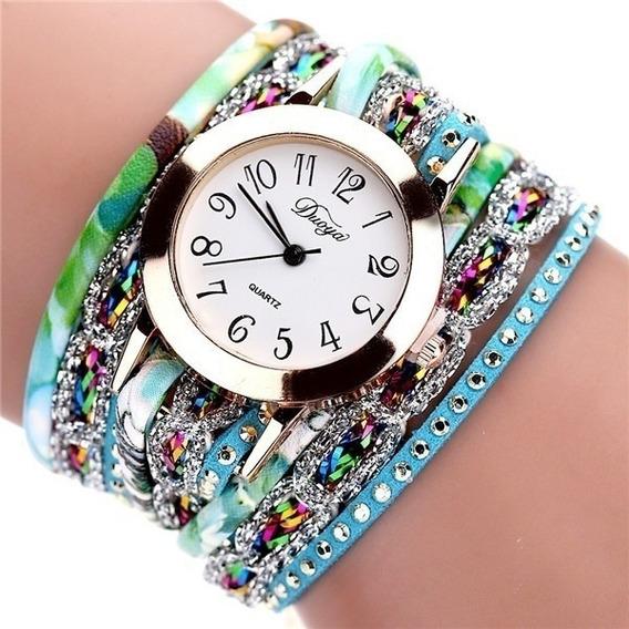Relógio Feminino Dourado Bracelete