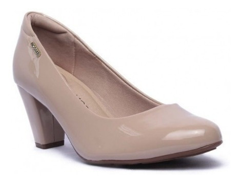 Sapato Modare Salto Médio Verniz 7305.100/ Gaby Calçados