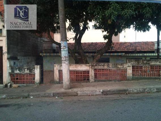 Terreno À Venda, 198 M² Por R$ 350.000,00 - Vila Nossa Senhora Das Vitórias - Mauá/sp - Te1037