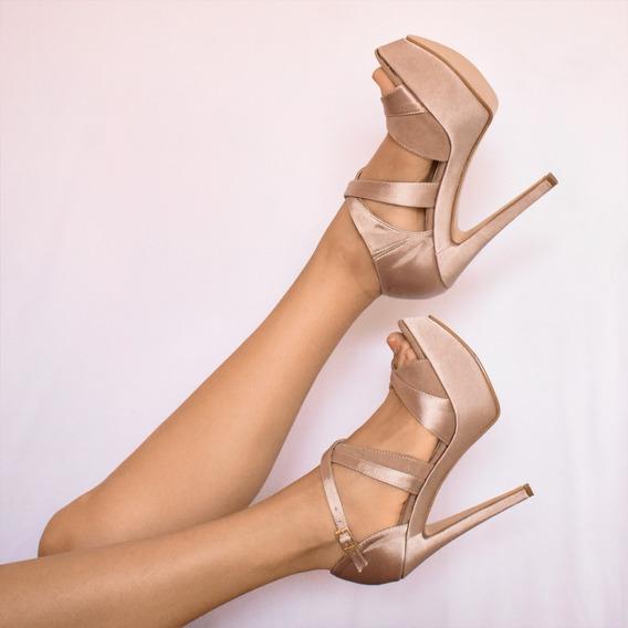 Zapato De Tacón Para Dama 526, Amarillo, Rosa Y Negro