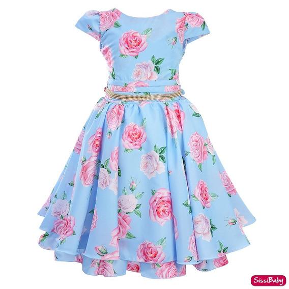 Vestido Festa Infantil Floral Formatura Da Princesa Promoção