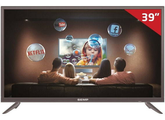 Smart Tv Led 39 S3900s Semp Tcl, Full Hd Hdmi Usb Com Wi-fi Integrado