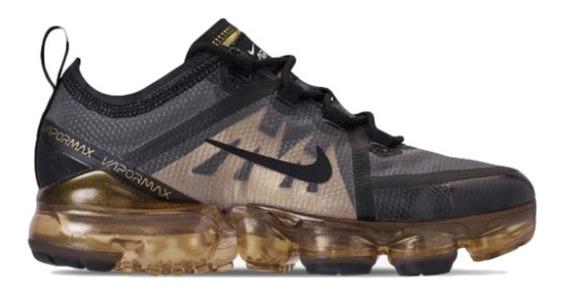 Zapatillas Nike Air Vapormax Negras Y Doradas