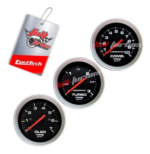 Imagem 1 de 2 de Kit Manômetro Combustível Óleo Turbo Sport