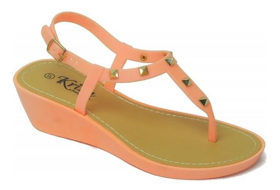 Sandalias Kriza Alta Confort Dama Fashion Moda