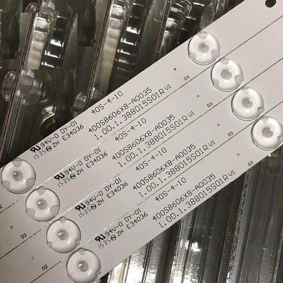 Barra De Led Ph40r86dsgw Kit Completo C/8 Barras Em Alumínio