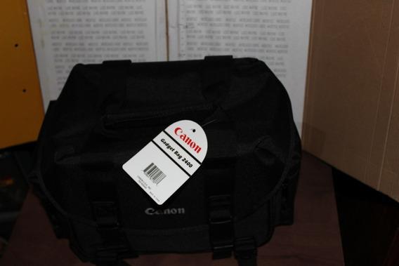 Maleta Canon Negra Para Cámara Y Lentes Gadget Bag 2400