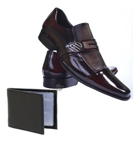 7631f7ac04bcf Sapato Social Gofer Em Couro Marrom - Sapatos com o Melhores Preços ...