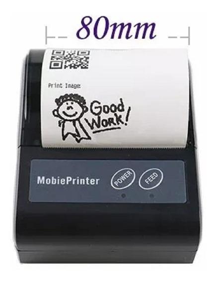 Mini Impressora Bluetooth Portatil 80mm Cupom Qr Code Usb