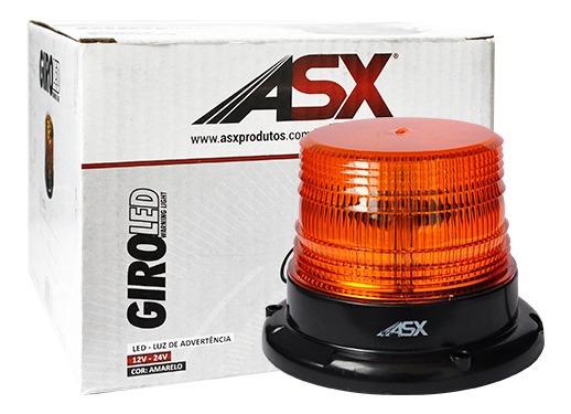 Giro Flex Luz De Advertencia Bivolt 12/24v Amarelo Asx Sinal