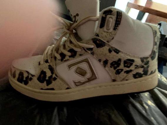 Zapatillas Quicksilver Animal Print $1000 Usadas Excelentes