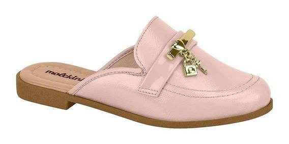 Sapato Mule Infantil Feminino Molekinha 2525100 Verniz Rosa
