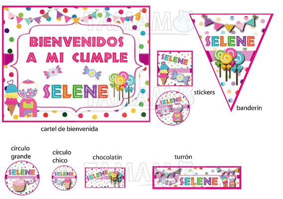 Candy Party Golosinas Kit Cumpleaños Super Completo
