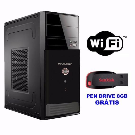 Cpu Computador Dual Core Ddr3 4gb 250gb Wifi Novo