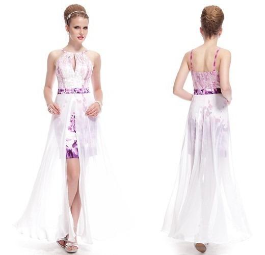 Vestido Branco Casamento Festa Noiva 15 Anos Floral Fenda