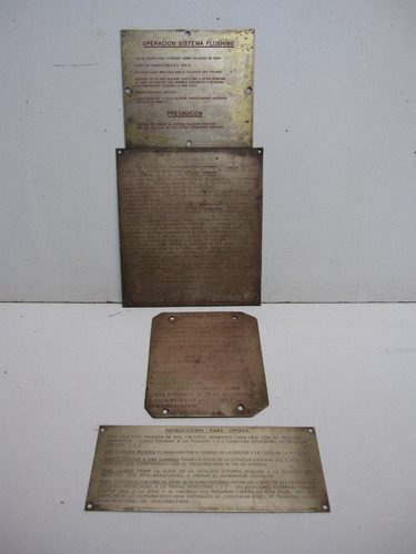 Letrero Placas Náuticas En Bronce