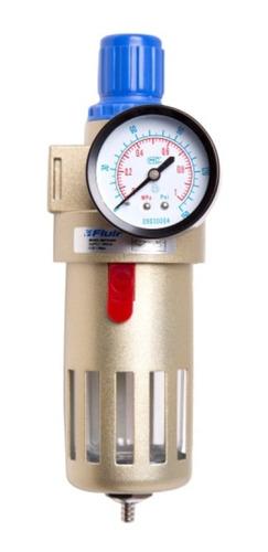Filtro De Ar Com Regulador 1/2 Befr4000 Fluir P/ Compressor