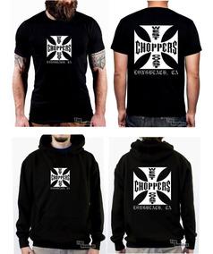 Kit Moletom Camiseta West Coast, Choppers, Harley Motorcycle