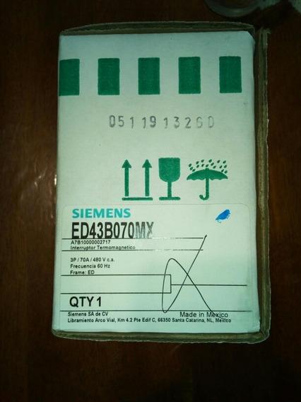 Interruptor Siemens Ed43b070mx 70 Amp