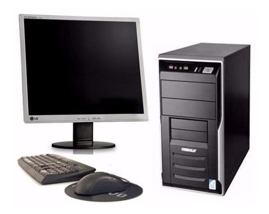 Pc Cpu Computador Completo 2 Gb Hd 80 Gb+wifi Monitor 19