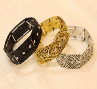 Bracelete Com Strass Cores Variadas