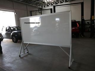 Atril Con Pizarron Magnetico De 1.20 X 2 Mts Una Cara Blanc