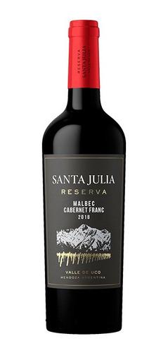 Imagen 1 de 5 de Santa Julia Reserva Malbec Cabernet Franc X 750ml