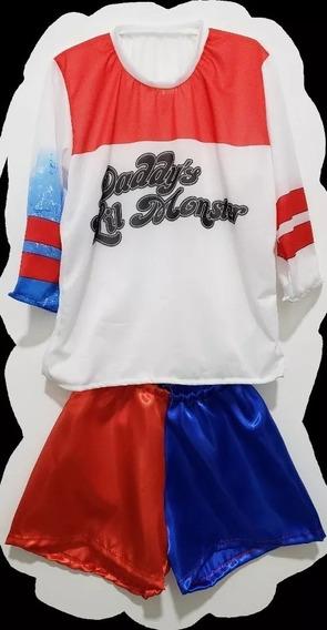Disfraz Harley Quinn Niñas Talle 8 Halloween Chirimbolos