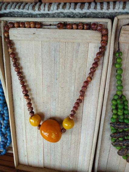 Colar Sementes Jarina - Biojoia Da Amazônia