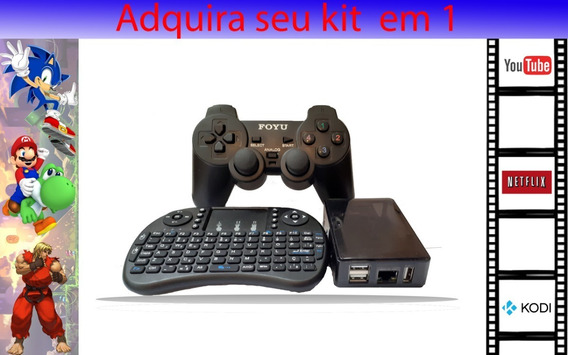 Mini Pc 2 Em 1 Game Retro Central E Multimidia