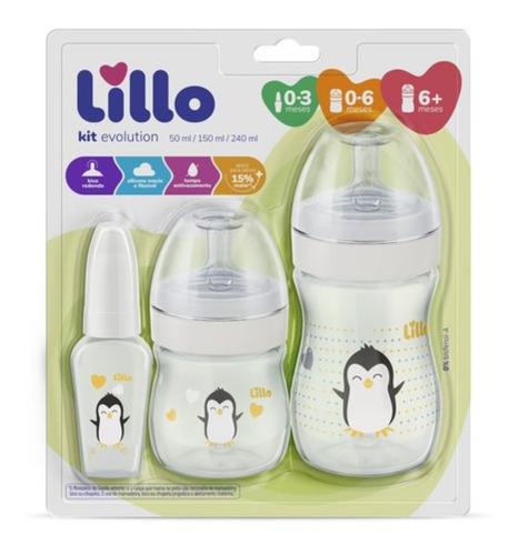 Kit De Mamadeira Primeiros Passos 50/150/240ml - Lillo