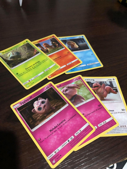 Lote 6 Cartas Comuns Detetive Pikachu