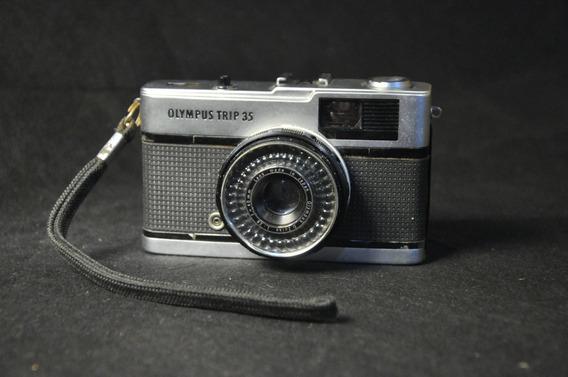 Câmera Fotográfica Olympus Trip 35 Antiga Usada Coleção