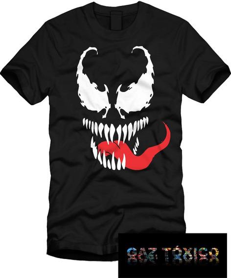Playera Venom Cara Manga Corta