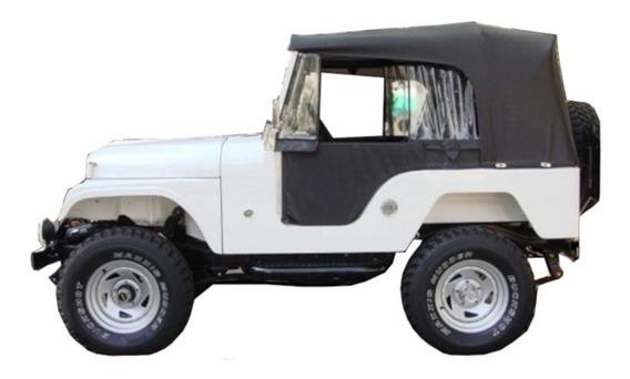 Capota Conversível Jeep Willys Cj5 Preta Pissoletro Completa