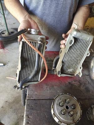 Motor, Escape E Radiador Da Honda Cr 125