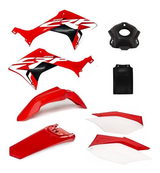 Kit Plástico Amx Completo Honda Crf 250f + Adesivo + Aletas