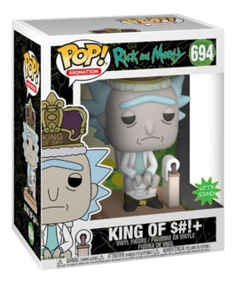 Funko Pop! 694 Rick And Morty King Of $#!+ Con Sonido