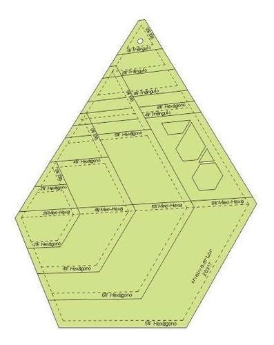 Imagem 1 de 4 de Gabarito Hexágonos Combinados 2-4-6 E 8  Pol - 26317
