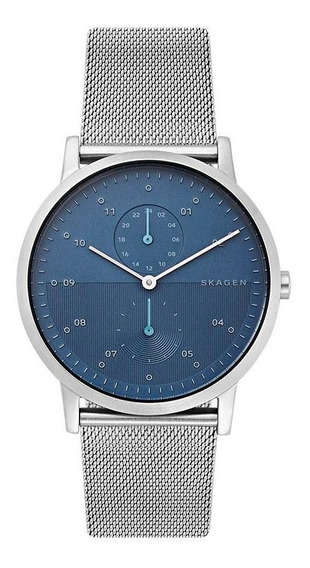 Relógio Masculino Skagen Ref: Skw6500/1kn Steel Mesh Azul