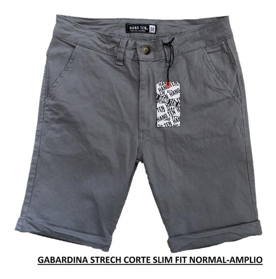 Bermuda Para Caballero Varias Marcas Y Colores Slim Fit