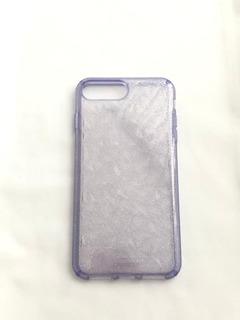 Funda Semi-transparente Para iPhone Con Brillos