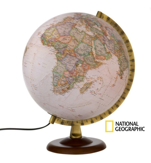 Globo Terrestre National Geographic Gold Executive Madeira