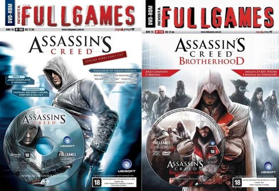 Assassins Creed I 1 Dvd Fullgames 100 + Brotherhood Dvd Fullgames 112 Pc Original Mídia Física