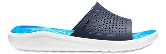 Crocs Originales Literide Slide Azul Unisex Hombre Mujer