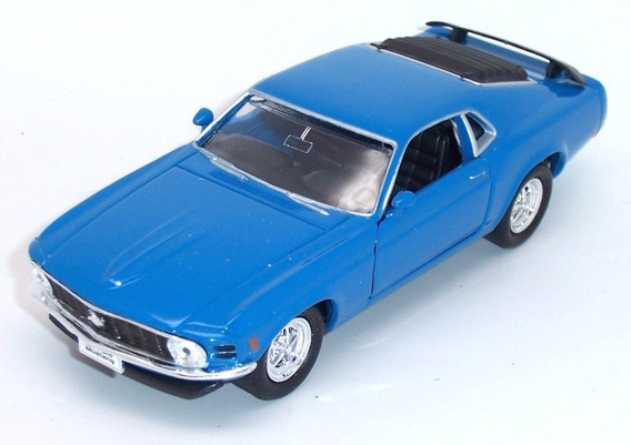 Ford Mustang Boss 302 1970 Escala 1:36 Welly Azul